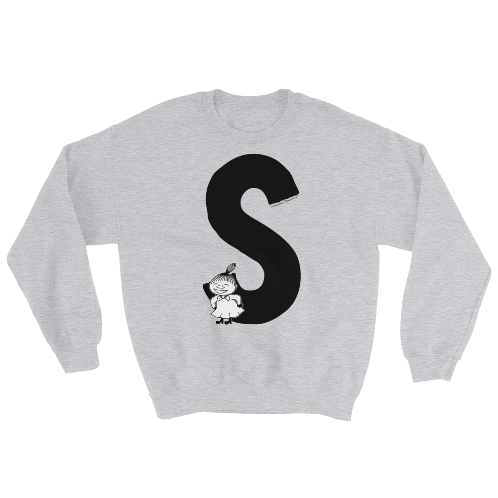S - Moomin Alphabet Sweatshirt - feat. Little My