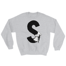 Load image into Gallery viewer, Moomin Alphabet sweatshirt - S as in Snufkin