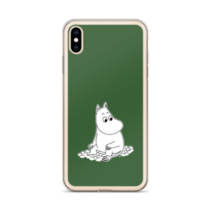 Moomin iPhone case forest green