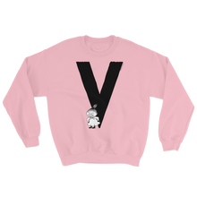 Load image into Gallery viewer, V - Moomin Alphabet Sweatshirt - feat. Little My