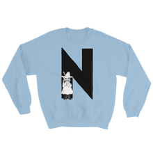 Load image into Gallery viewer, N - Moomin Alphabet Sweatshirt - feat. Snufkin