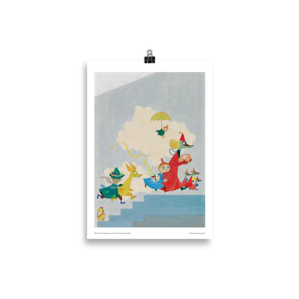 Moomin poster - The Aurora Hospital mural