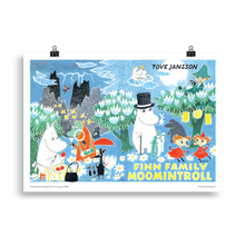 Load image into Gallery viewer, Moomin poster - Finn Family Moomintroll (landscape)