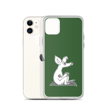Load image into Gallery viewer, Sniff iPhone case forest green