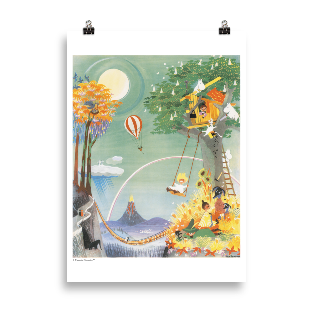 Moomin poster - The Rainbow House
