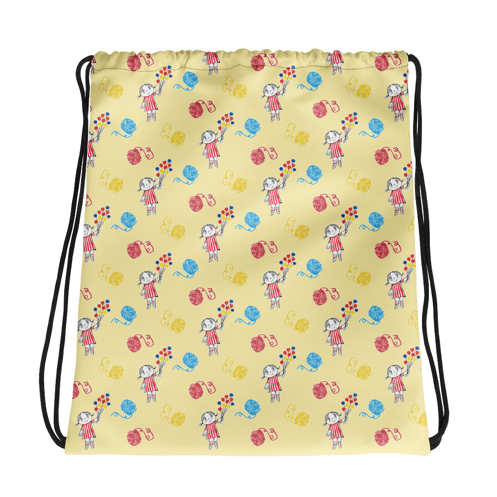 Little Anna Drawstring bag in yellow