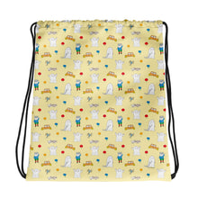 Load image into Gallery viewer, Little Spook Laban and cars Drawstring bag in yellow