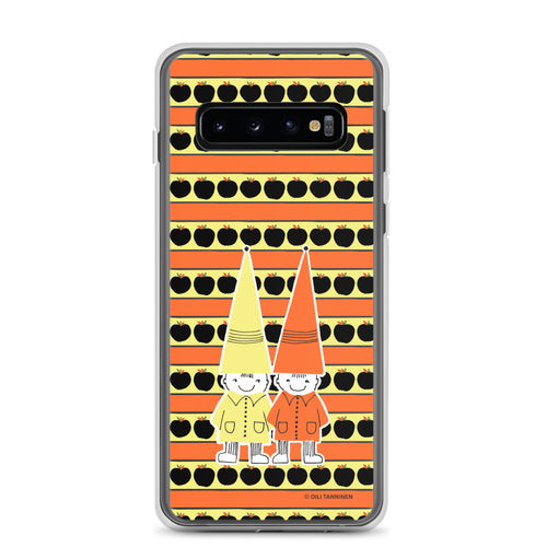Button & Popper orange apple stripes Samsung case