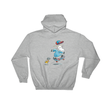 Load image into Gallery viewer, Mauri Kunnas Mr Clutterbuck Skateboard Hooded Grey Sweatshirt Skandibrand