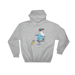 Mauri Kunnas Mr Clutterbuck Skateboard Hooded Grey Sweatshirt Skandibrand