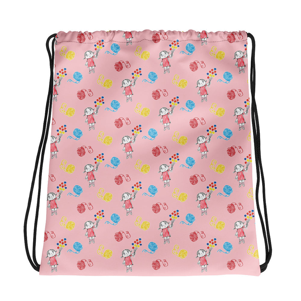 Little Anna Drawstring bag in pink