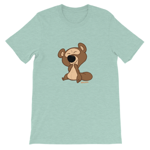 Gigglebug Barry the Bear Short-Sleeve Unisex T-Shirt Dusty Blue Skandibrand