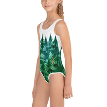 Load image into Gallery viewer, Gigglebug Forest All-Over Print Kids Swimsuit Skandibrand