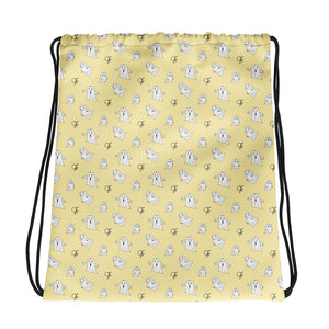 Little Spook Laban Drawstring bag in yellow