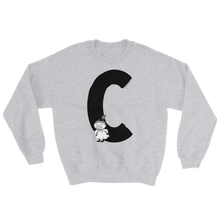 Load image into Gallery viewer, C - Moomin Alphabet Sweatshirt - feat. Little My