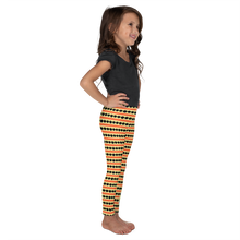 Load image into Gallery viewer, Button & Popper orange apple stripes kid's leggings