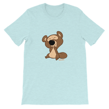 Load image into Gallery viewer, Gigglebug Barry the Bear Short-Sleeve Unisex T-Shirt Ice Blue Skandibrand