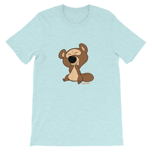 Gigglebug Barry the Bear Short-Sleeve Unisex T-Shirt Ice Blue Skandibrand