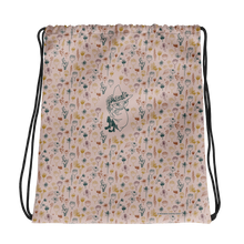 Load image into Gallery viewer, Snufkin flower garden coconut drawstring bag