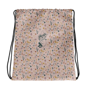 Snufkin flower garden coconut drawstring bag