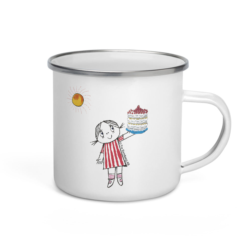 Little Anna and cake Enamel Mug