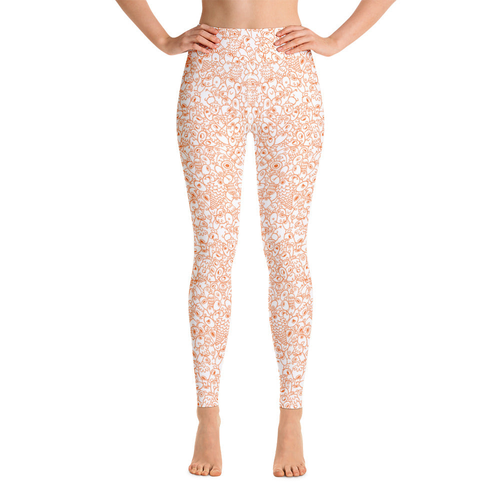 Gigglebug One-eyed Pinecones Yoga Leggings Skandibrand