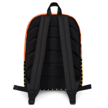 Load image into Gallery viewer, Button & Popper orange apple stripes backpack
