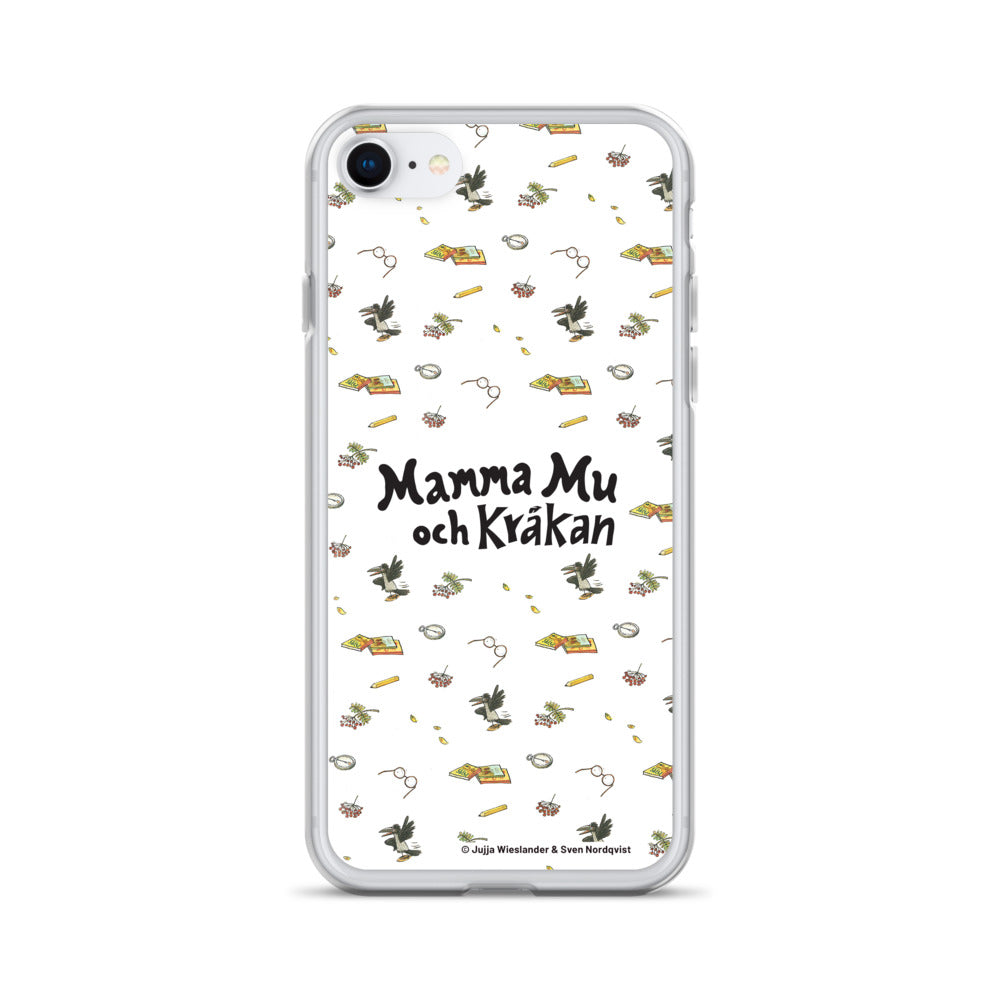 White Mamma Moo and the Crow iPhone Case