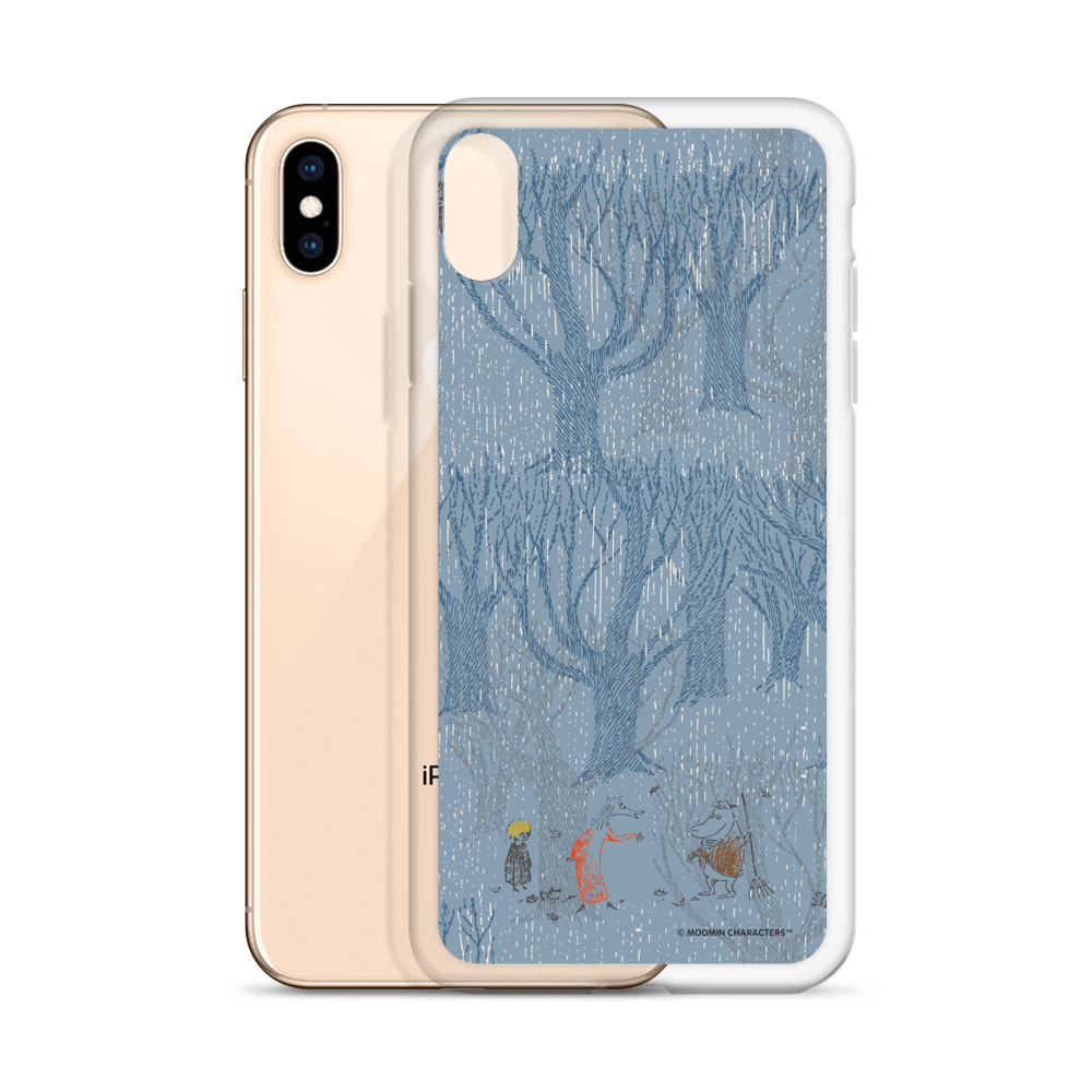 A day in November blue iPhone case