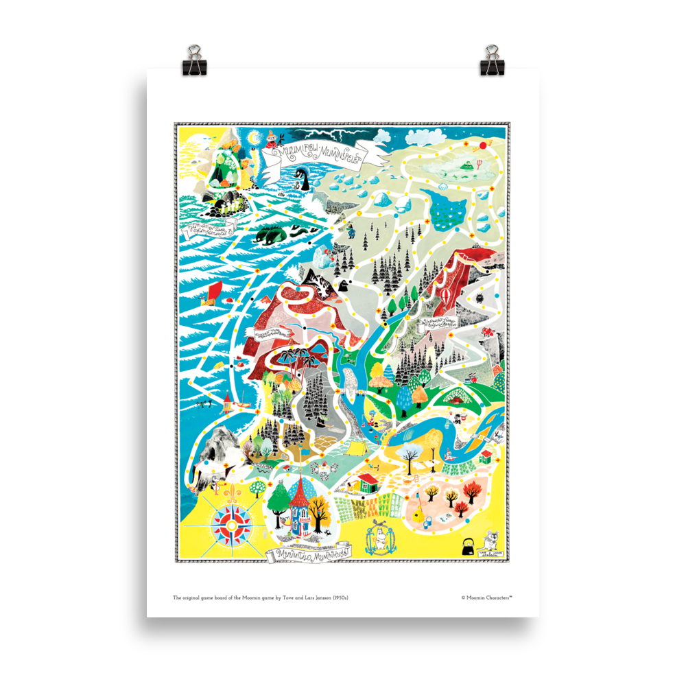 Moomin poster - The original game board of Moomin game