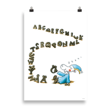 Load image into Gallery viewer, Mr Clutterbuck Alphabet Poster Skandibrand