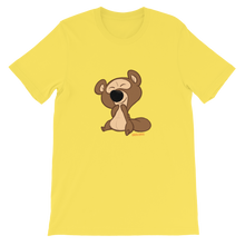 Load image into Gallery viewer, Gigglebug Barry the Bear Short-Sleeve Unisex T-Shirt Yellow Skandibrand