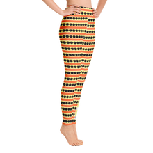 Load image into Gallery viewer, Button & Popper orange apple stripes yoga leggings