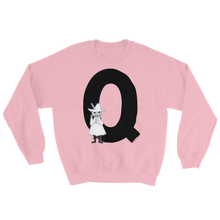 Load image into Gallery viewer, Q - Moomin Alphabet Sweatshirt - feat. Snufkin