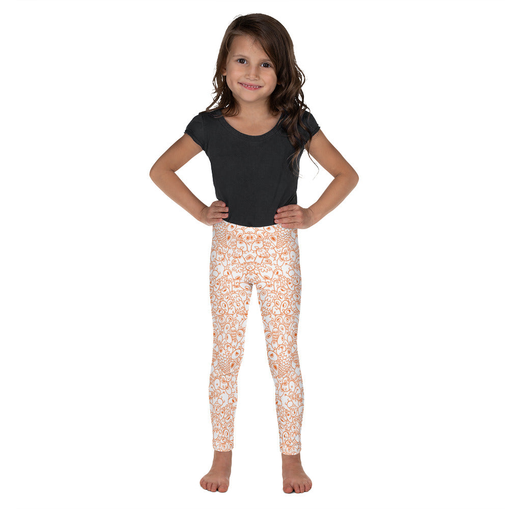 Gigglebug Kid's Leggings One-eyed Pinecones Skandibrand