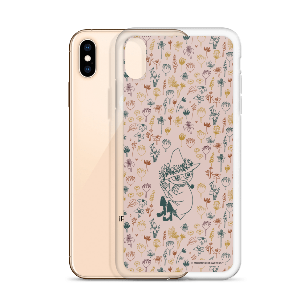 Snufkin flower garden coconut iPhone case