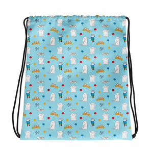Little Spook Laban and cars Drawstring bag in blue