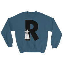 Load image into Gallery viewer, R - Moomin Alphabet Sweatshirt - feat. Snufkin