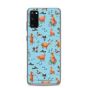 Blue Mamma Moo and the Crow Samsung Case