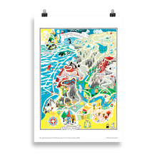 Load image into Gallery viewer, Moomin poster - The original game board of Moomin game