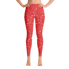 Load image into Gallery viewer, Comet adventure yoga leggings red