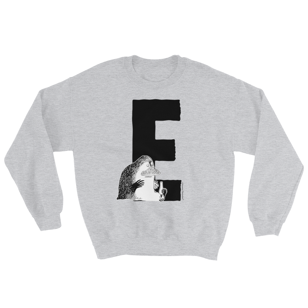 E - Moomin Alphabet Sweatshirt - feat. the Groke