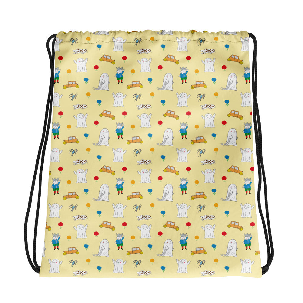 Little Spook Laban and cars Drawstring bag in yellow