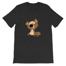 Load image into Gallery viewer, Gigglebug Barry the Bear Short-Sleeve Unisex T-Shirt Dark Grey Skandibrand