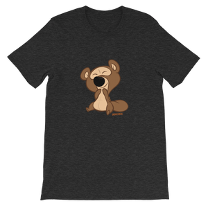 Gigglebug Barry the Bear Short-Sleeve Unisex T-Shirt Dark Grey Skandibrand