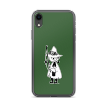Load image into Gallery viewer, Snufkin iPhone case forest green