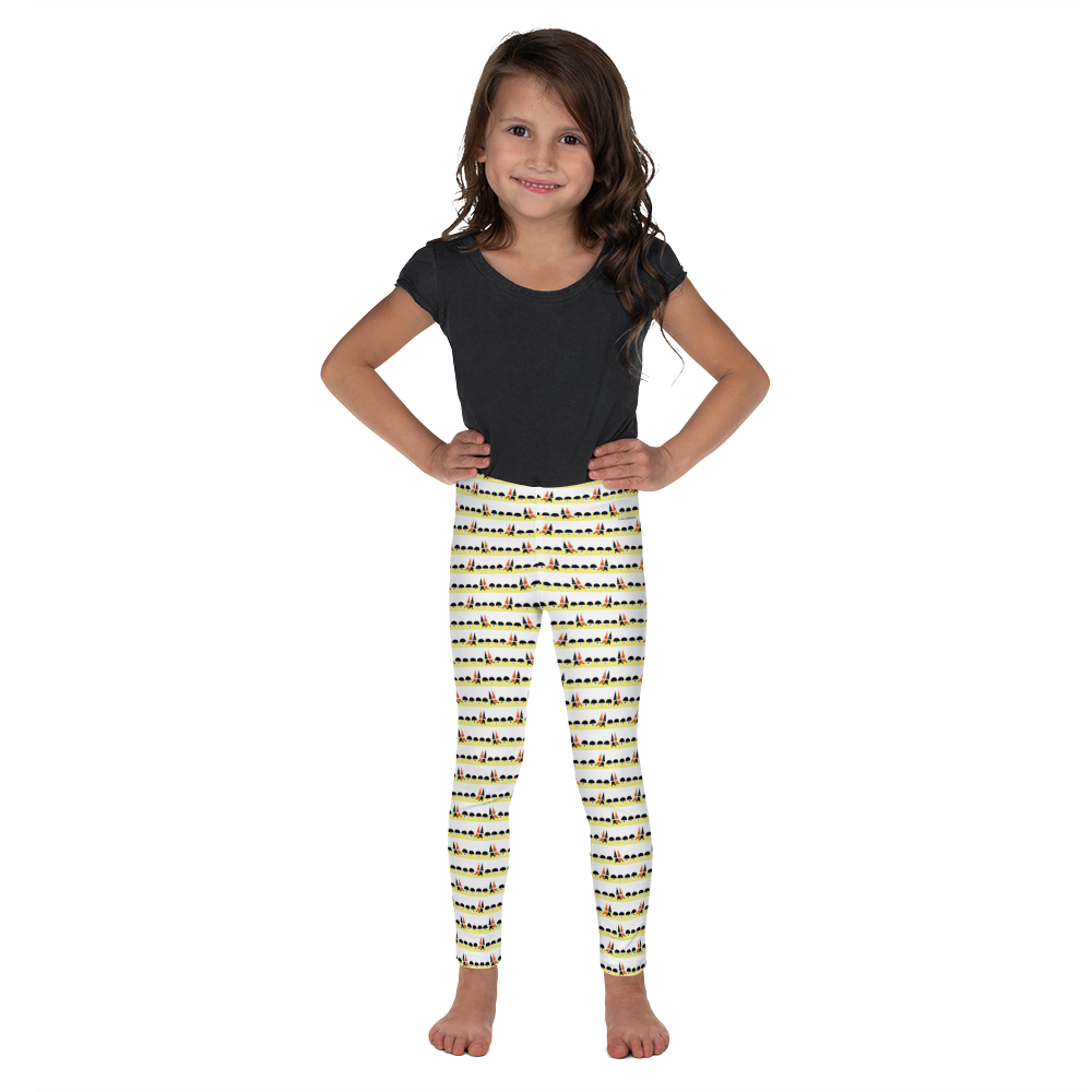 Button & Popper mushroom town kid's leggings