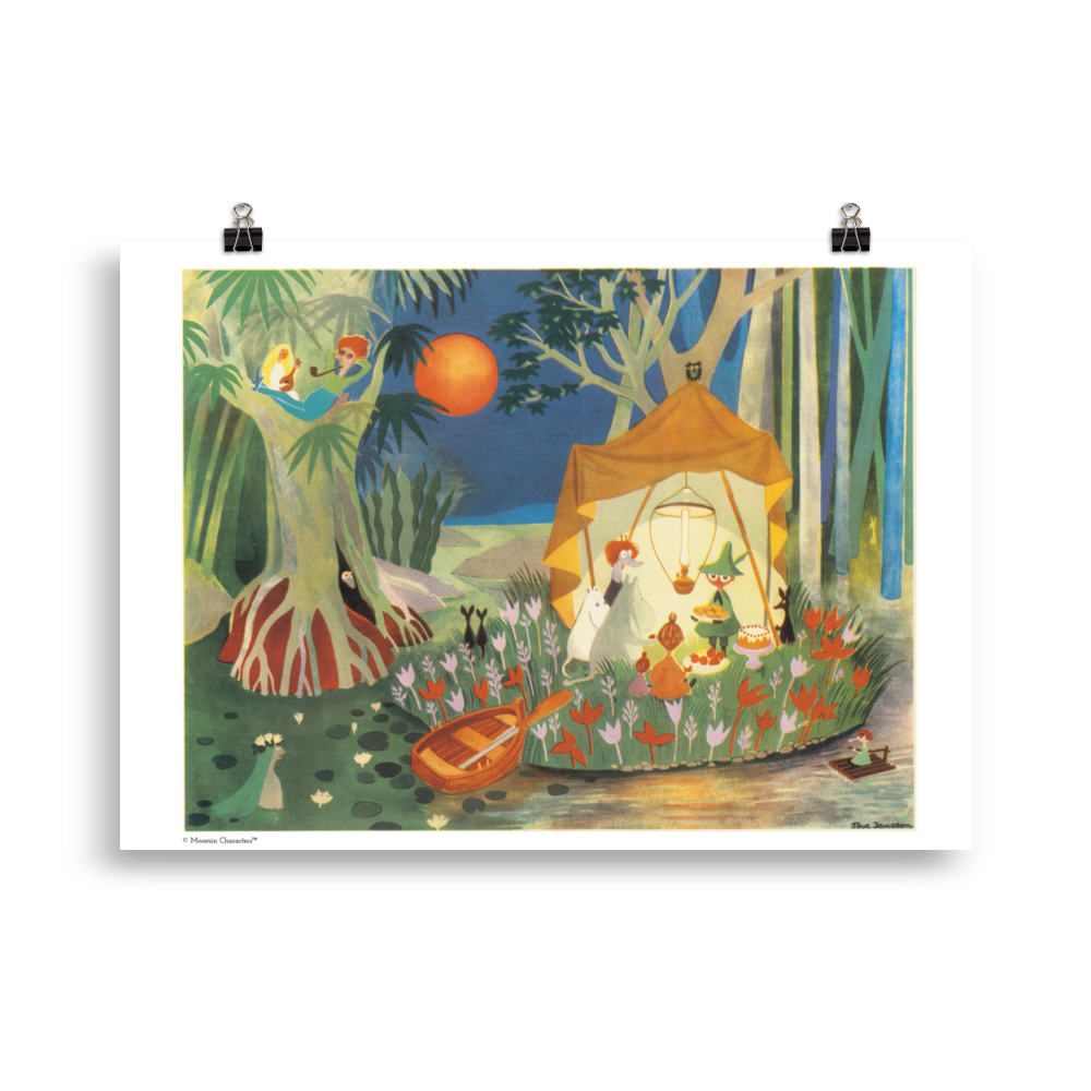 Moomin poster - The Secret Island