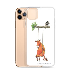 Swinging Mamma Moo and the Crow iPhone Case