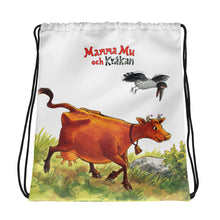 Load image into Gallery viewer, Adventure Mamma Moo and the Crow Drawstring bag